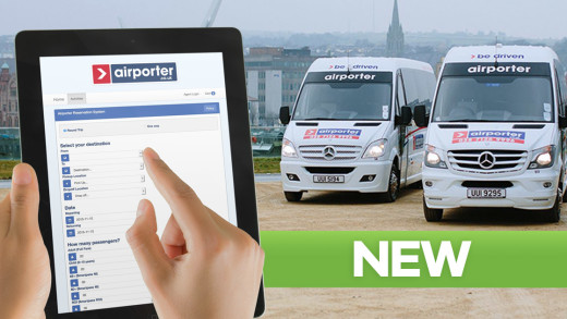Airporter Booking System in action on a tablet