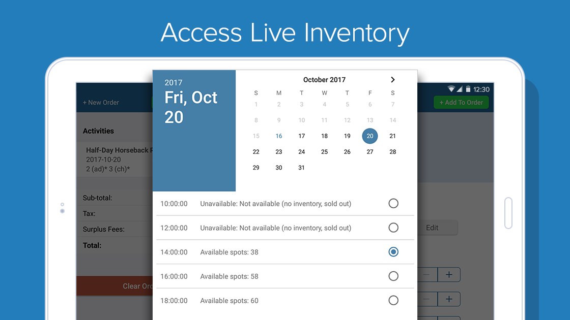 Zaui POS Android - Access Live Inventory