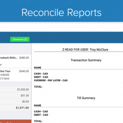 Zaui POS Android - Reconcile Reports
