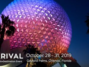 Meet us at Arival in Orlando | October 28 – 31, 2019