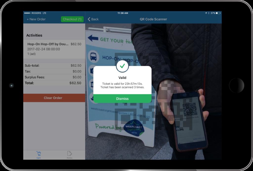 Tour Ticket Scanning - iPad - Zaui Software