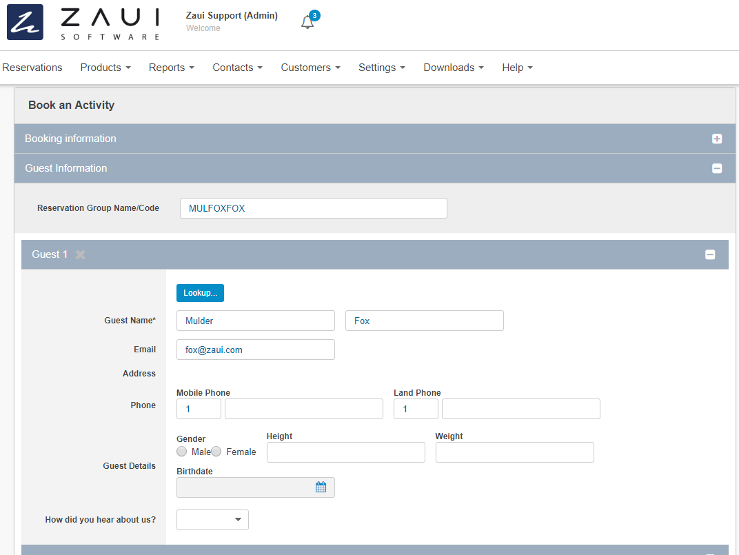 Zaui Software-Back Office Update Screenshots | Zaui Software