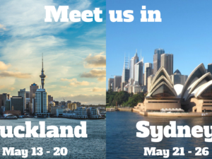 Meet us in Auckland & Sydney this May