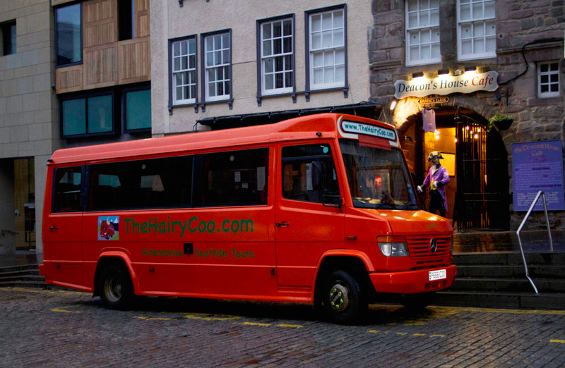 Zaui tourism Booking Software - The Hairy Coo - Edinburgh