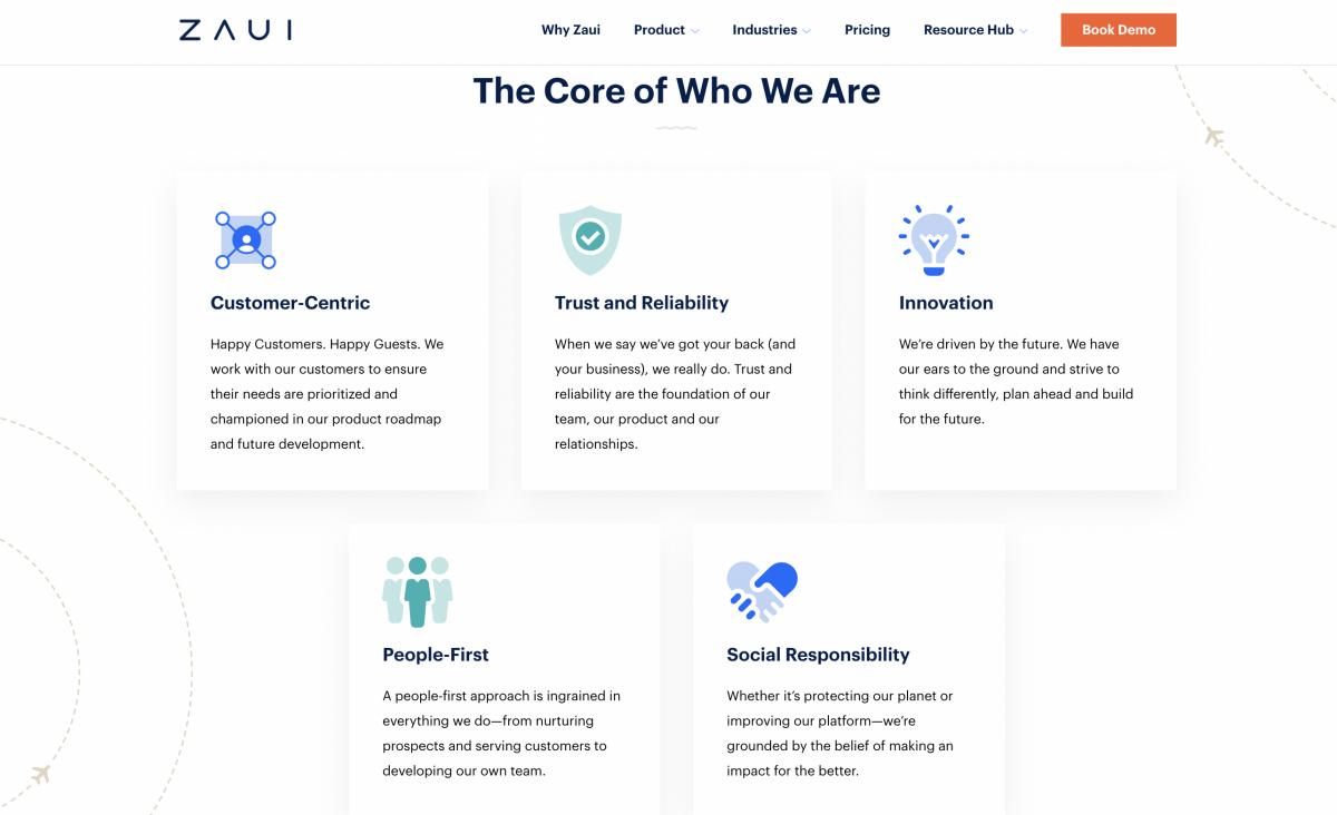 core values of Zaui